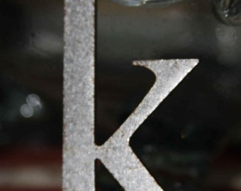 Metal Vintage Advertising Letters only Zero 0 left Alphabet destash supplies large and small