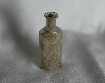 Old Unearthed Medicine Bottle Marked 3ii Dug Up Rustic Vintage