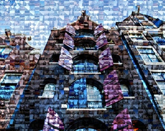 Metallic Photography Mosaic Amsterdam Windows