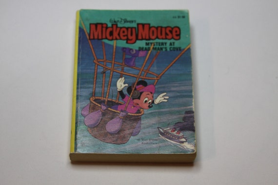 Mickey Mouse Big Little Book Mystery at Dead Man's Cove Walt Disney Vintage
