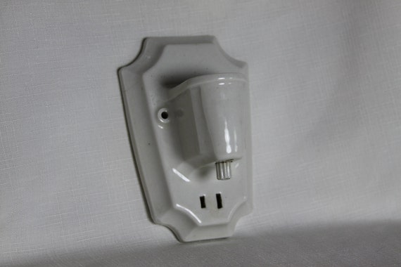 Paulding Art Deco Porcelain Wall Sconse Electric or candle light Wall Fixture Industrial