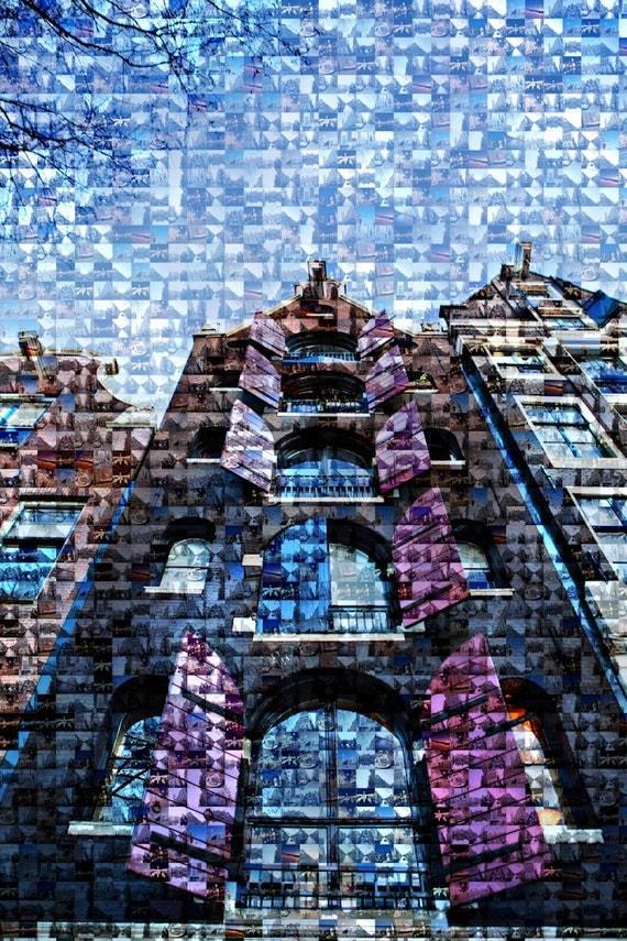 Metallic Photography Mosaic Amsterdam Windows