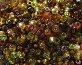 Spice Brown 10/0 Seed Bead Mix 15 grams