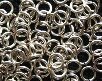 Jump Rings 500 -- 18 ga 3.5mm Handmade Non Tarnish Silver