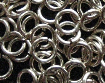 Jump Rings 100 -- 16 ga 6mm ID Handmade Non Tarnish Silver  Chainmaille