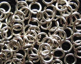 Jump Rings 500 -- 18 ga 3.5mm ID Non Tarnish Silver