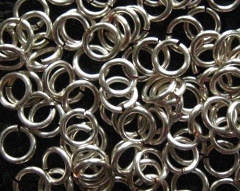 Jump Rings  200  18 ga 3.75mm Handmade Non Tarnish Silver Chainmaille chain mail