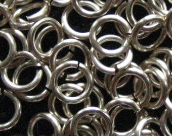 Jump Rings 500 -- 16 ga 4.5mm ID Non Tarnish Silver