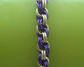 Chainmaille Bracelet KIT -- Double Spiral Weave with Instructions (You choose colors)