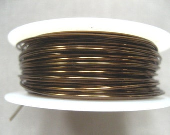 26 gauge Vintage Bronze Viking Knit Crochet Wire 45 ft