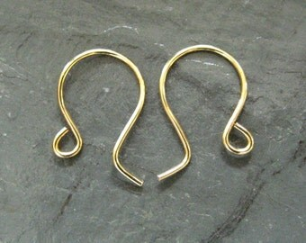 Ear Wires 6 Pairs   Handmade Round Hypo Allergenic Ear Wires (Your Choice of Color)