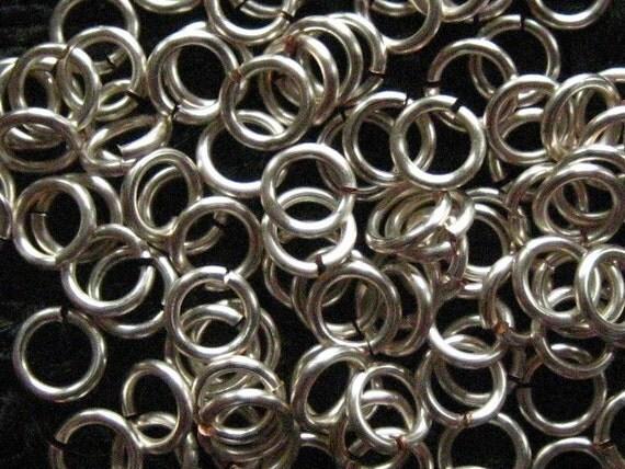 400 -- Jump Rings 18 ga 4mm ID Handmade Non Tarnish Silver  chain mail