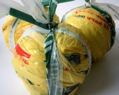 Plarn Ball - Yellow Plastic Yarn - Great for Crochet Projects - About 50 Yards - DIY  - Handmade Craft Supplies