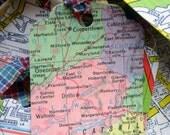 Gift Tags - Repurposed Maps - One Dozen Handmade