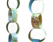 Paper Chain Garland- Vintage Map- Set of 2