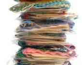 Wholesale - Gift Tags - Vintage Sewing Pattern Packaging - 10 Sets of One Half Dozen per Set - Vintage Rick Rack Strings