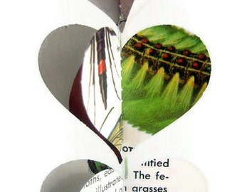 Insects - Heart Garland - Vintage Field Guide to Insects - Fun Birthday Decor - Unique and Handmade Earth Day Decoration
