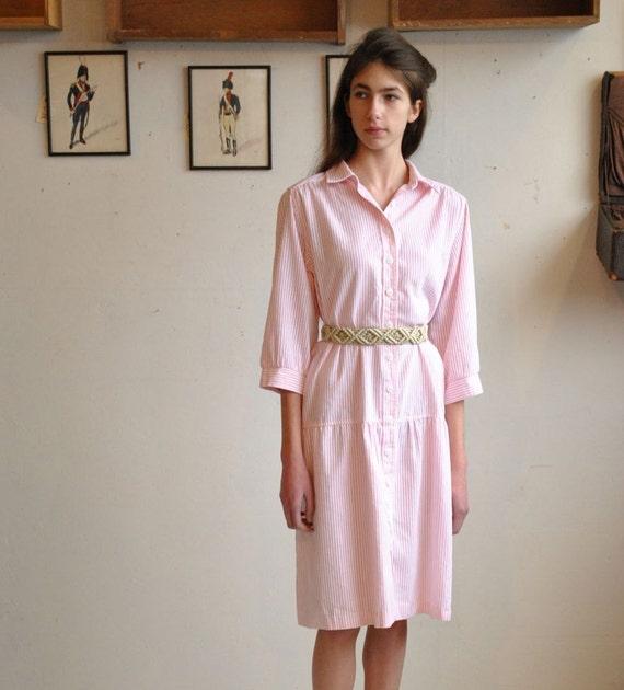 Striped  Dress  //  Cotton Dress  //  SEERSUCKER LOLLIPOP