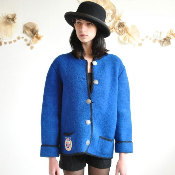70s Olympic Wool Coat  //  Wool Jacket //  OLYMPIC WINTER GAMES