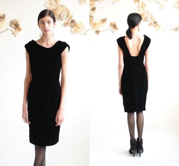 Black Velvet Dress  //  Cowl Neck Dress  //  MIDNIGHT PARTY