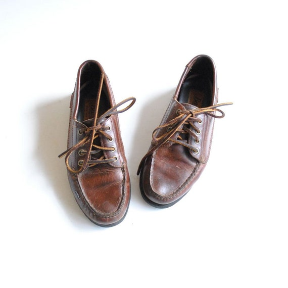 Deck Shoes Size 7.5  //  Leather Loafers  //  JUMP on BOARD