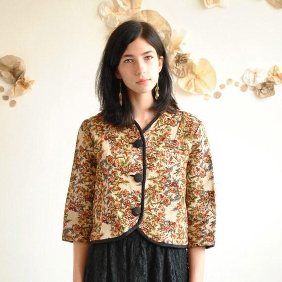 RESERVED...Floral Jacket  //  Tapestry Jacket  //  CHAMPS ELYSEES