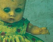Halloween Party Invite - Bazaar of the Bizarre - Custom - Creepy Baby Doll - Printable PDF