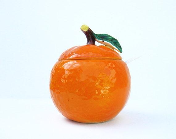 Vintage Jam Jelly Jar Orange
