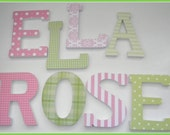 8, Wooden Nursery Wall Letters,VALUE PRICED,  Six Inch, Block Style Letters, Freestanding, set of eight, Custom Wood Letter, Baby Name