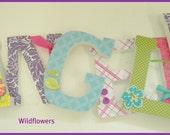 Baby Nursery Wall Letters - Wildflower Theme - Coord with PB Kids Wildflower Bedding-avail in any size or font in this shop