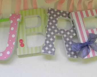 Baby Nursery Wall Letters - Lavender Pink and Sage Theme - Girls Room-avail in any size or font in this shop