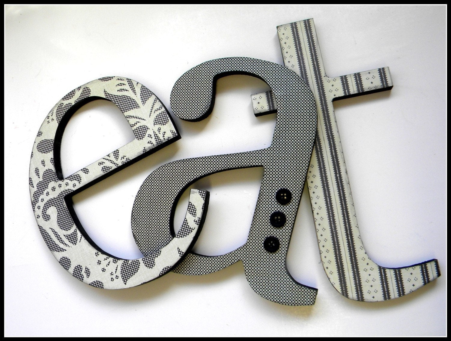 EAT SIGN Wooden Letters EAT Kitchen Decor 8-10 Inches