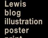 Schuhle Lewis blog illustration poster print