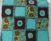 Raw Edge Appliqué Flannel Rag Baby/Doll Quilt