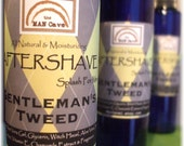 AFTERSHAVE - GENTLEMANS TWEED - All Natural Face Conditioner with Aloe, Green Tea and Chamomile by Man Cave Soapworks