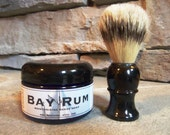 Perfect Gift for Men OLD FASHIONED SHAVE Soap in a Jar with Boar Bristle Brush - Choose Your Scent - by Man Cave Soapworks