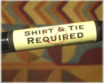 Solid COLOGNE Stick - Shirt & Tie Not Required - sexy, earthy scent -ships FREE to US