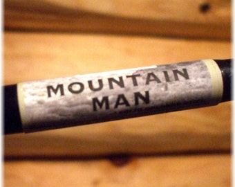 Solid COLOGNE Stick - MOUNTAIN MAN - manly, woodsy scent by Man Cave Soapworks - Free Shipping to U S