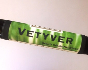 Solid COLOGNE Stick - VETYVER - clean, brisk scent - ships FREE to U S