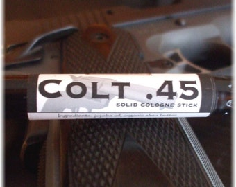 Solid COLOGNE Stick - COLT .45 -  masculine, spicy scent by Man Cave Soapworks-FREE shipping to U S
