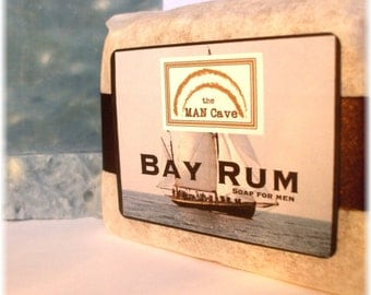 SOAP For Men - BAY RUM - with Organic Oils and Shea Butter by Man Cave Soapworks
