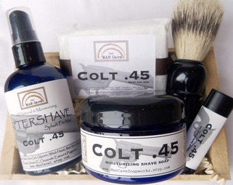 Bath and Body Favorites GIFTSET for Men Great Holiday Gift by Man Cave Soapworks - Choose Your Scent