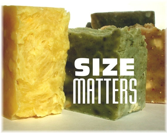SIZE MATTERS Mega Bar SOAP for Men - 8-9 oz - Choose Your Scent by Man Cave Soapworks