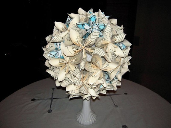 Items similar to origami paper flower centerpiece on etsy