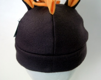 Brown and Gold Pony Horse Fleece Hat FOR KIDS