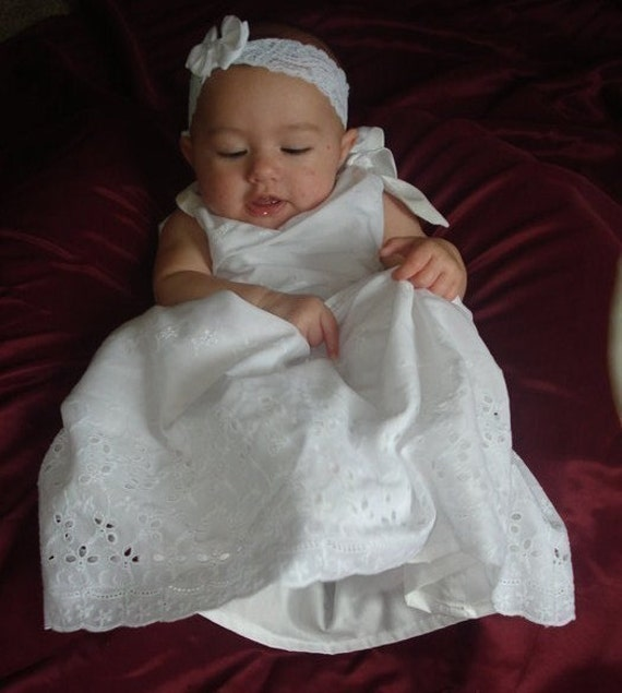 NEW FABRICS- 12 fabrics to choose from - The Affordable Christening/Dedication/Baptism Gown -Keep it simple and sleek.
