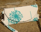 White and Turquoise Clutch ...