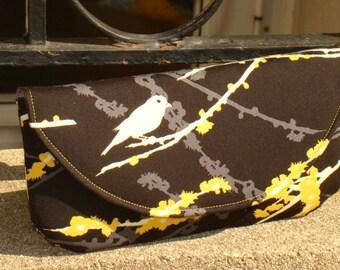 Black and Yellow Bird ... Curvy Clutch ... Joel Dewberry