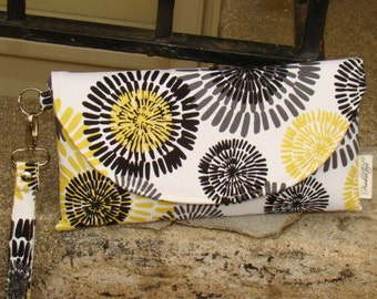 Yellow, Gray and Black Micheal Miller Clutch ...