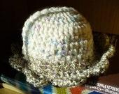 Blossom Hat, Ice Cream -- size 3T